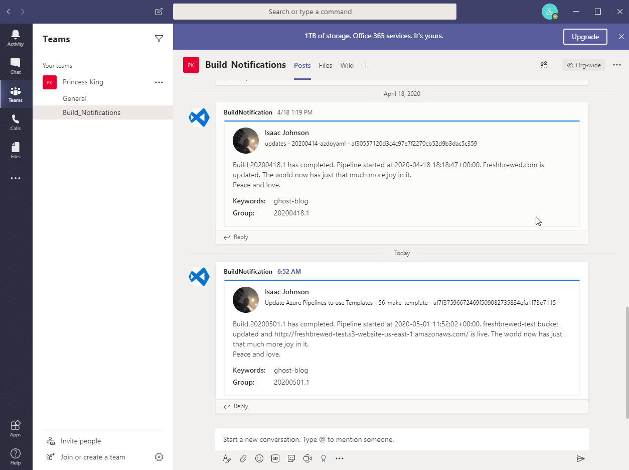 Azure DevOps : Templates and Integrating Teams Notifications